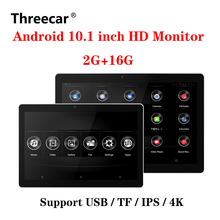 10.1 Inch Android Auto Hoofdsteun Monitor Hd 1080P Video Touch Screen Wifi/Bluetooth/Usb/Sd//fm MP5 Video Speler