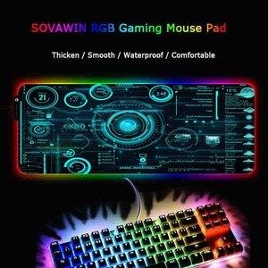 Image 5 - Большой игровой RGB коврик для мыши Mairuige Cool Line с абстрактным изображением, геймерский большой коврик для мыши, компьютерный коврик для мыши, Настольный коврик для клавиатуры со светодиодной подсветкой