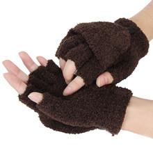 Dziewczęta damskie damskie ręcznie ocieplacz na nadgarstek zimowe rękawiczki bez palców rękawiczki na rękawiczki damskie damskie zimowe ciepłe rękawiczki rękawiczki Fasion tanie tanio Stałe DO NADGARSTKA Adult CN (pochodzenie) Unisex COTTON moda Warm Glove Womens Fashion Winter Outdoor Sport Warm Gloves