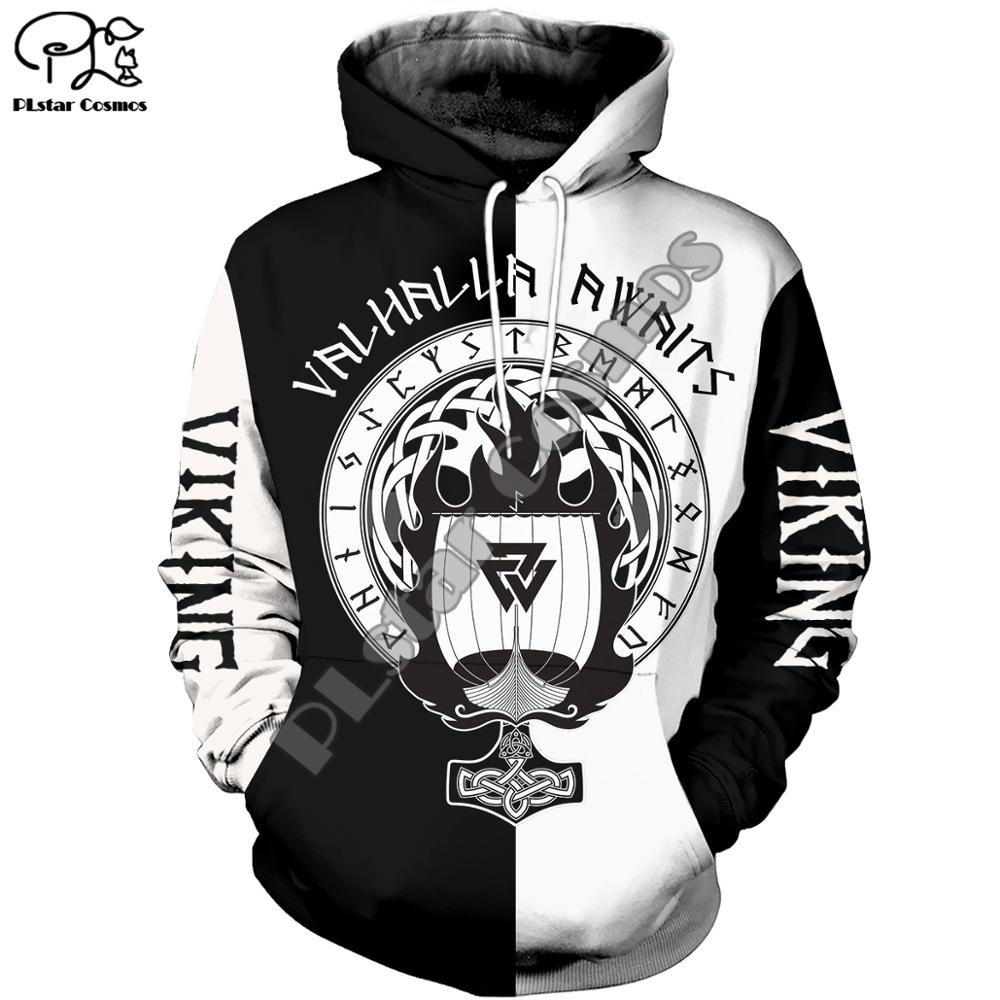 PLstar Cosmos Viking Warrior Viking Tattoo New Fashion Tracksuit casual 3DPrint zipper/Hoodie/Sweatshirt/Jacket/Mens Womens s-2