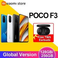 Poco f3 5g 6gb 128gb/8gb 256gb versão global smartphone snapdragon 870 octa núcleo 6.67