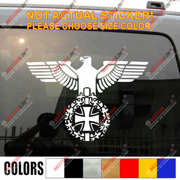 Iron Cross of German Armed Forces Wehrmacht Car Decal Sticker  Balkenkreuz Germa