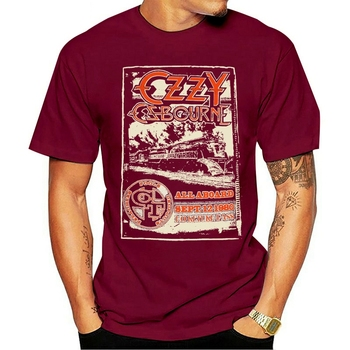 2021 Fashion casual 100% cotton T-shirt Ozzy Osbourne Crazy Train New Men Of Ozz Diary Of A Madman image