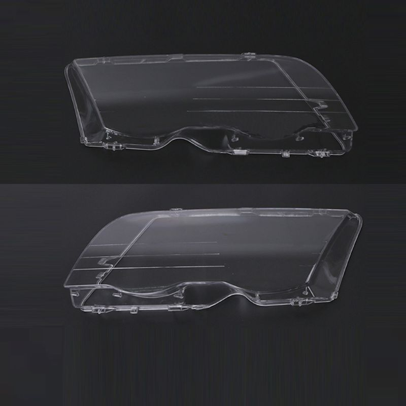 2Pcs Car Headlight Glass Protector Cover Clear 4 Door Automobile Left Right Headlamp Head Light Lens Cover Styling For E46 98-01