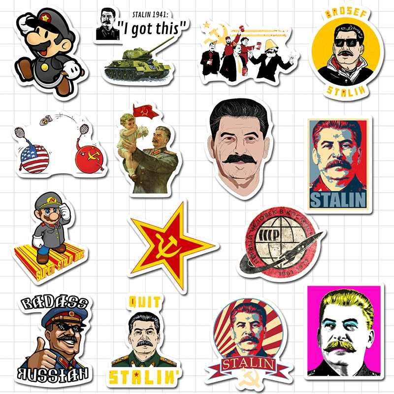 50Pcs Russo/Stalin URSS CCCP Graffiti Adesivi per Chitarra di Skateboard Giocattolo Impermeabile Bagaglio Sticker Ipad Decalcomanie Autoadesivo Del Telefono