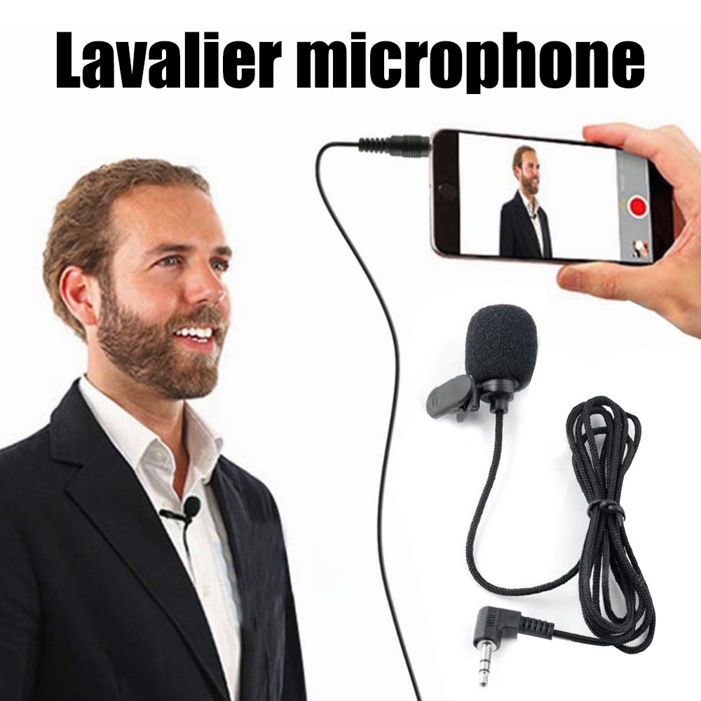 Double Track For SmartPhones Clip-On Wired Microphone Lapel Lapel MIC For SmartPhones