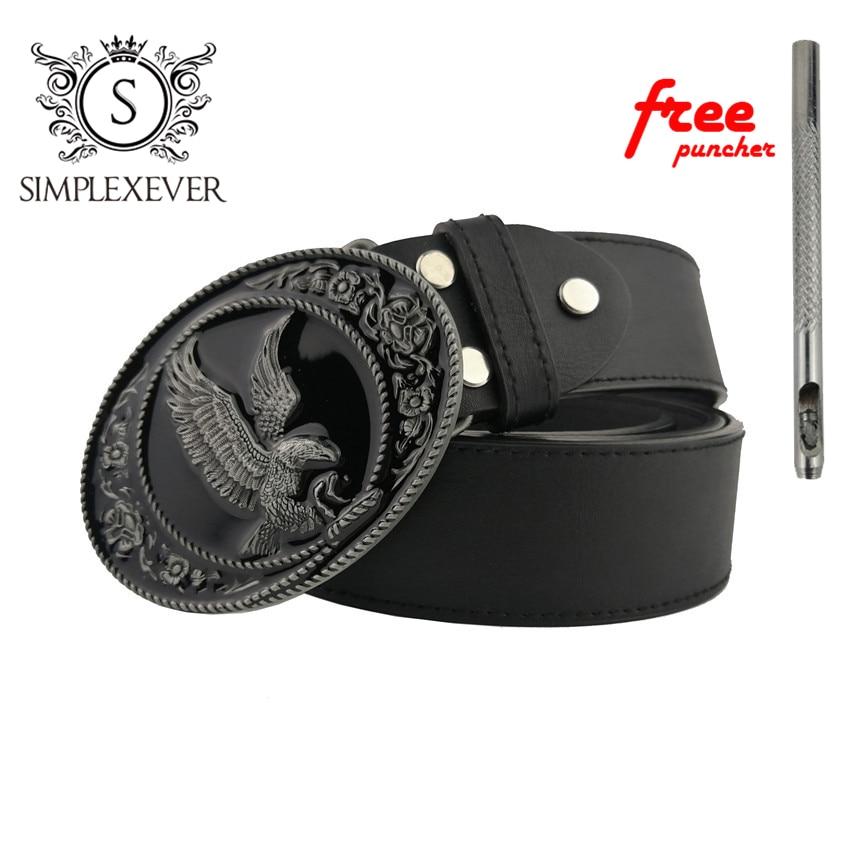 Eagle Style Belt Buckle Accessories For Women Black Coating Animal Belt Buckles Men Jeans Accessories