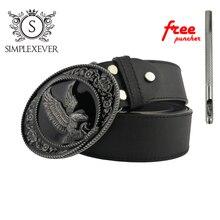 Eagle Style Belt Buckle Accessories for Women Black Coating Animal Buckles Men Jeans