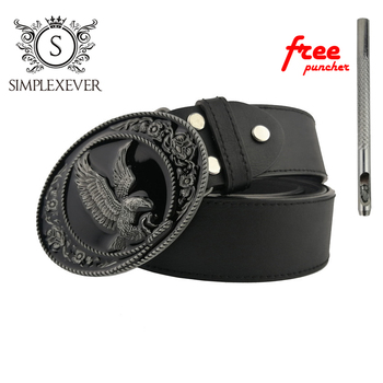 Eagle Style Belt Buckle Accessories for Women Black Coating Animal Buckles Men Jeans