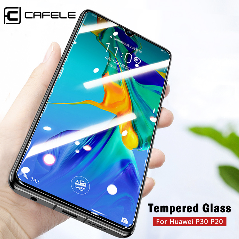 CAFELE Screen Protector Tempered Glass 2.5D HD Clear For Huawei P30 P20 Pro Honor 10 9 8 Protective Glass Not Full Cover Film