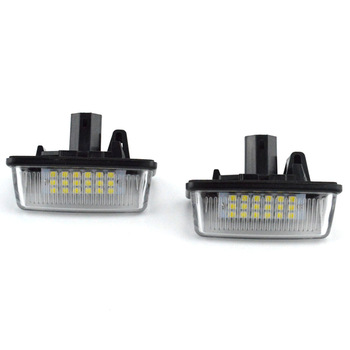 A Pair Of Car Led Headlights License Plate Lights For Toyota Corolla E11 Crown S180 Starlet Ep91 Vios Previa Acr50 Gsr50 image