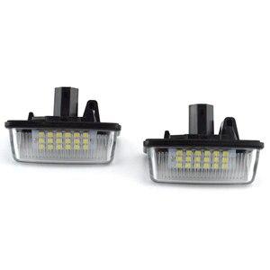 Un par de faros led para automóvil, luces de matrícula para Toyota Corolla E11 Crown S180 Starlet Ep91 Vios Previa Acr50 Gsr50