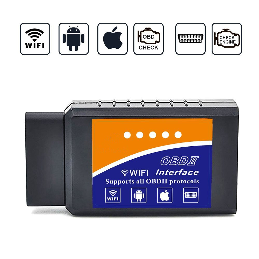 Car WIFI OBD2  Car Code Reader Elm327 Wireless OBD Scan Tool Scanner Adapter Check Engine Diagnostic Tool For IPhone IOS Andoird