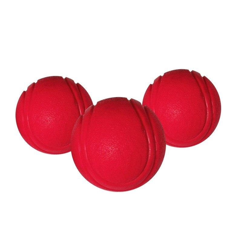 Тренировочная жевательная игрушка для домашних животных, Нетоксичная твердая натуральная резина, мяч для прыжков для собак и кошек, маленький размер-2