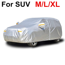 M L XL SUV Cover Coat Protector UV Protective Dust Rain Snow Water Proof Full Car Covers Indoor Outdoor D45