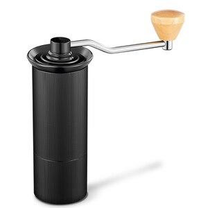 Image 2 - HAANZHALL 50MM 수동 커피 그라인더 스테인레스 스틸 버 그라인더 원추형 Coffe 콩 밀러 수동 커피 밀링 머신