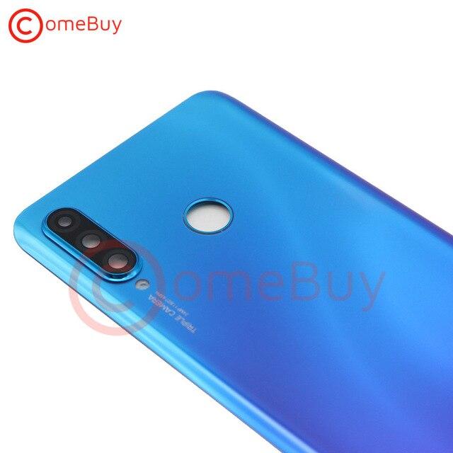 For Huawei P30 Lite Back Battery Cover Nova 4e Rear Glass Door Panel Case For Huawei P30 Lite Battery Cover+Camera Lens Replace 5
