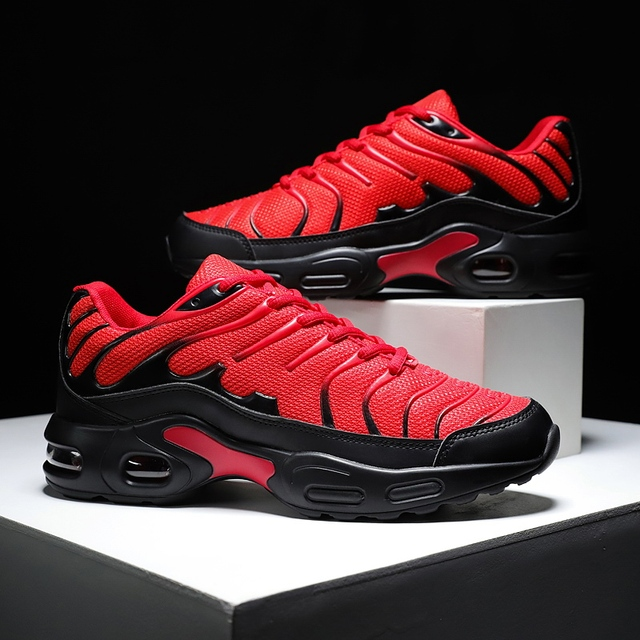 Damyuan 2019 Breathable mesh Men Sneakers Comfortable Air Cushion Outdoor Walking Heightened Red Running Shoes Big Size 46 5