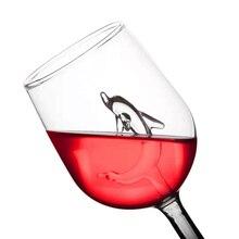 Дельфин Кубок красное вино Стекло es с дельфином внутри бокал кристально чистый Стекло для домашние бары Вечерние SEP99