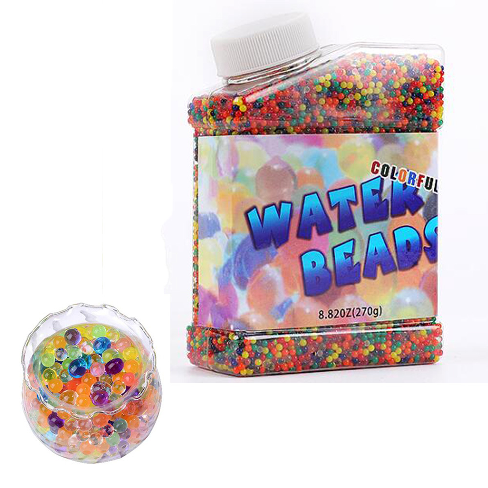 270g Colourful Water Crystal Mud Growing Balls Beads for Plants Flowers Vase Filler Home Party Potted Decoration(China)