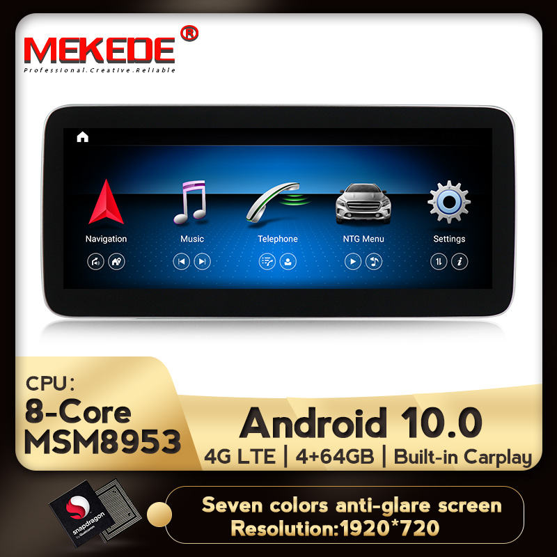 MEKEDE IPS Screen Android 10.0 Auto Gps Nagation Dvd Player For Mercedes Benz A Class W176 ,CLA Class C117 / X156, NTG 4.5/5.0