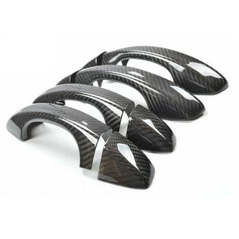 Osłony na uchwyty drzwi z włókna węglowego 8 sztuk zestaw pasują do Volkswagen Golf MK7 skoda fabia skoda ataiv skoda superb tanie i dobre opinie MARTHSALUCK Carbon Fiber Klamki 0 3kg