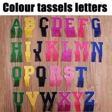 A-Z Colour English Alphabet Letters cute kids tassels Patches Iron on for Clothes Applique Jacket scrapbooking DIY Patchwork