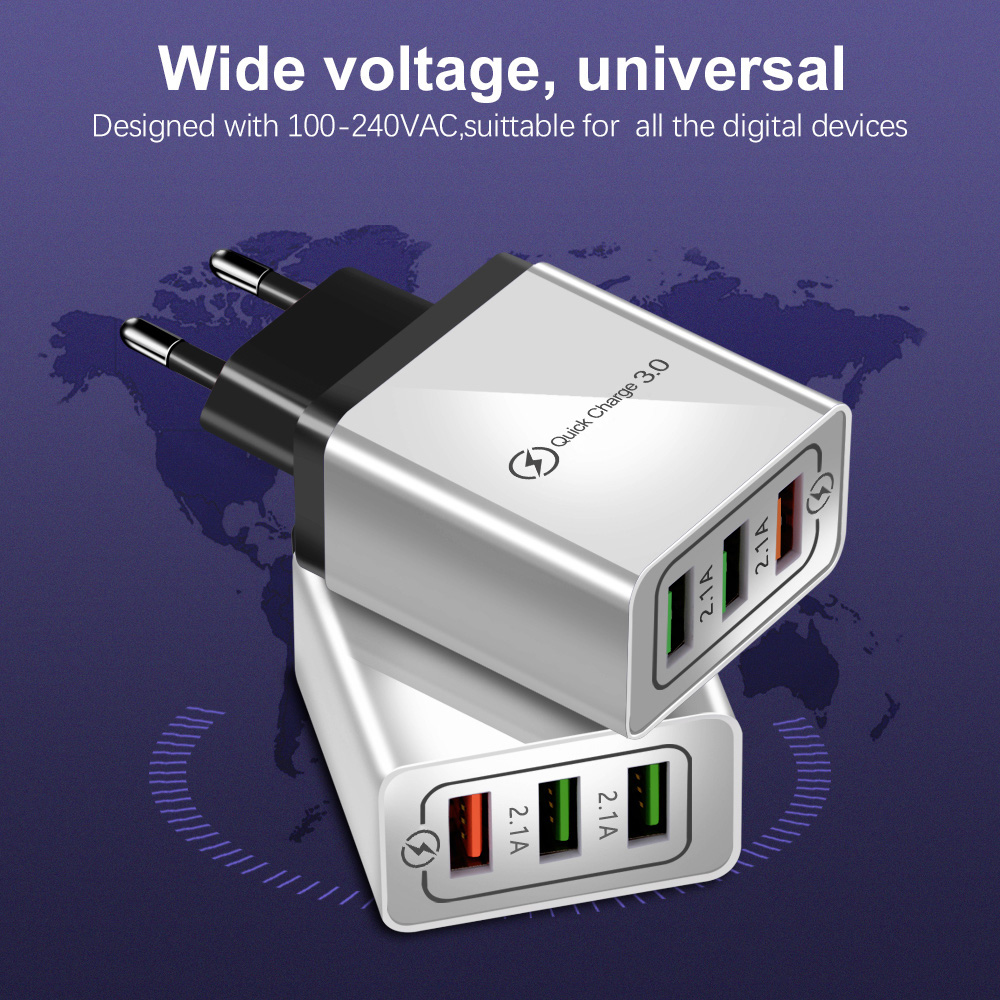 H2baa0fe35b1b43349969db3a8ae47ea0m - Olaf USB Charger quick charge 3.0 for iPhone X 8 7 iPad Fast Wall Charger for Samsung S9 Xiaomi mi 8 Huawei Mobile Phone Charger