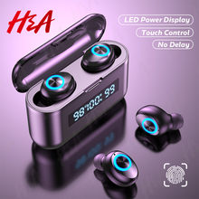 Drahtlose Kopfhörer TWS Bluetooth Kopfhörer 2200mAh Lade Box Sport Wasserdicht Headsets HiFi Stereo Ohrhörer mit Mikrofone