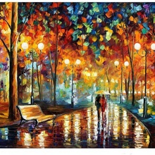 Decompression Toys Puzzles Rain-Night 1000pieces Wooden Jigsaw Intellectual-Game Learning