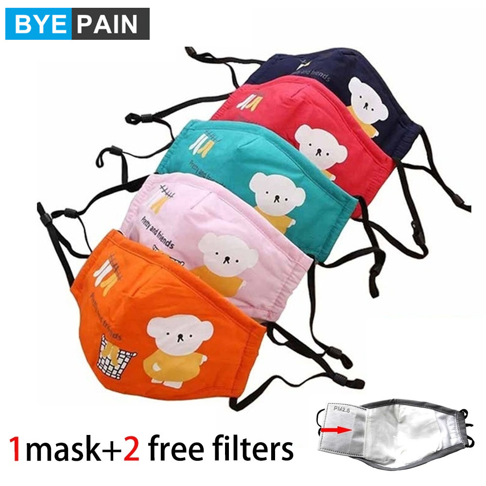 1Pcs Anti-Flu Face Mouth Mask Reusable Breathable Cotton Protective Children Kid Cartoon Cute PM2.5 Anti-Dust Mouth Face Mask