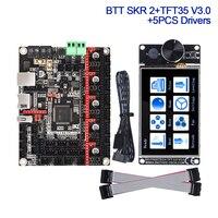 BIGTREETECH BTT SKR 2 Placa de Control TFT35 V3.0 + TMC2209 TMC2208 UART 3D piezas de la impresora CR10 Ender3 actualización SKR V1.4 Turbo MINI E3