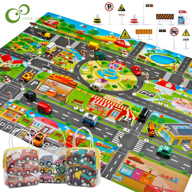 Large City Traffic Car Park Mat Play Kids Rug Developing Baby Crawling Mat Play Game Mat Innrech Market.com
