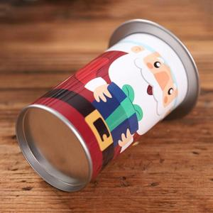 Image 3 - 1PCS Christmas Candy Tin Box Santa Claus Snowman Candy Cans Christmas Candy Jar Iron Boxes Gift Sweets Box Children Presents