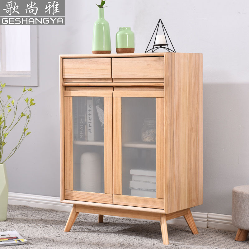 Northern European-Style Cabinet Solid Wood Storage Cabinets Multi-functional Cabinet Customizable Minimalist Modern Jane Sideboa
