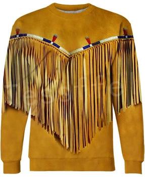 Tessffel Indian Native culture Harajuku Casual Colorful Tracksuit New Fashion Funny 3DPrint Unisex Sweatshirts Mens Womens s-3 2
