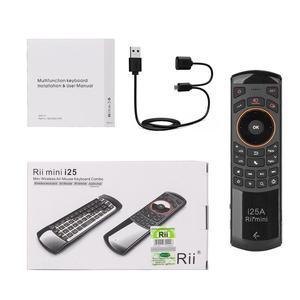 Image 5 - Rii I25A 2.4G Mini Bàn Phím Chuột Điều Khiển Từ Xa Với Tai Nghe Chụp Tai Cho Tivi Thông Minh Android TV Box Lửa tivi