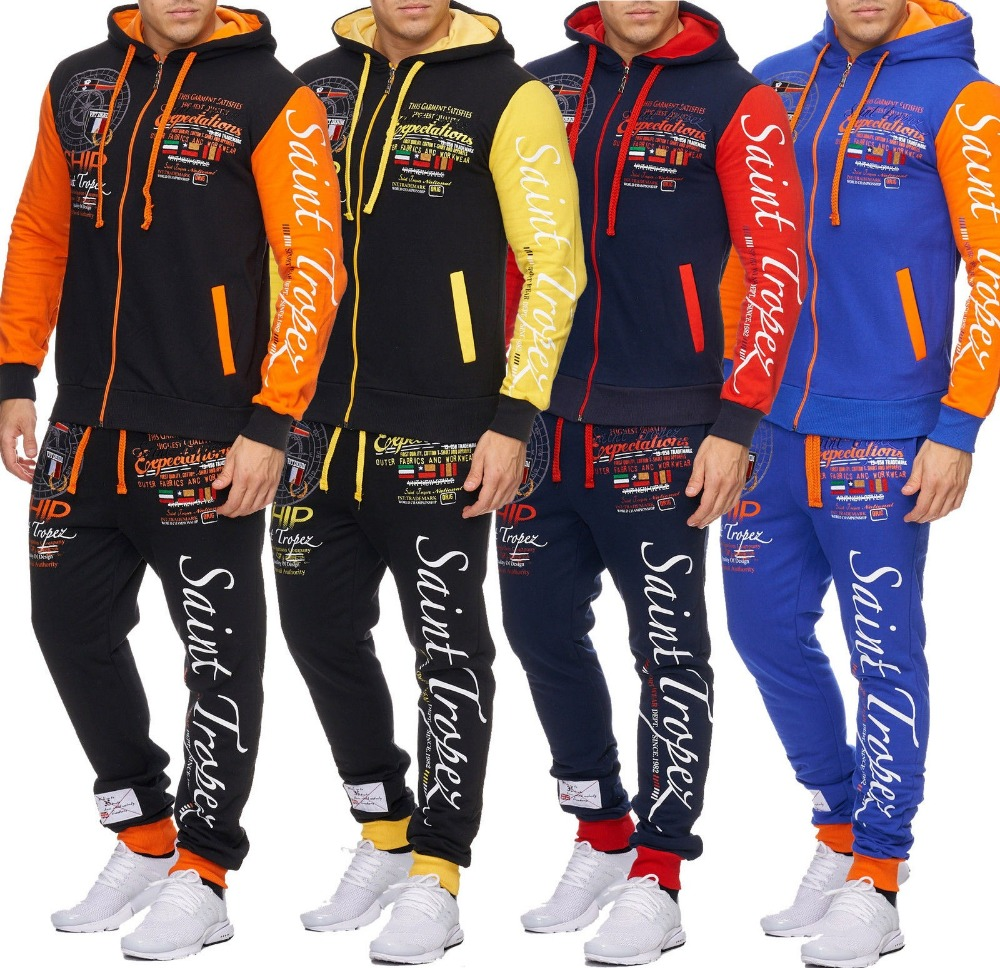 Zogaa Hot Men's Sets 2019 Hot Sale Fashion Sportswear Set Male Tracksuits Men's Gyms Hoodies Sweatshirts Casual Outwear Suits