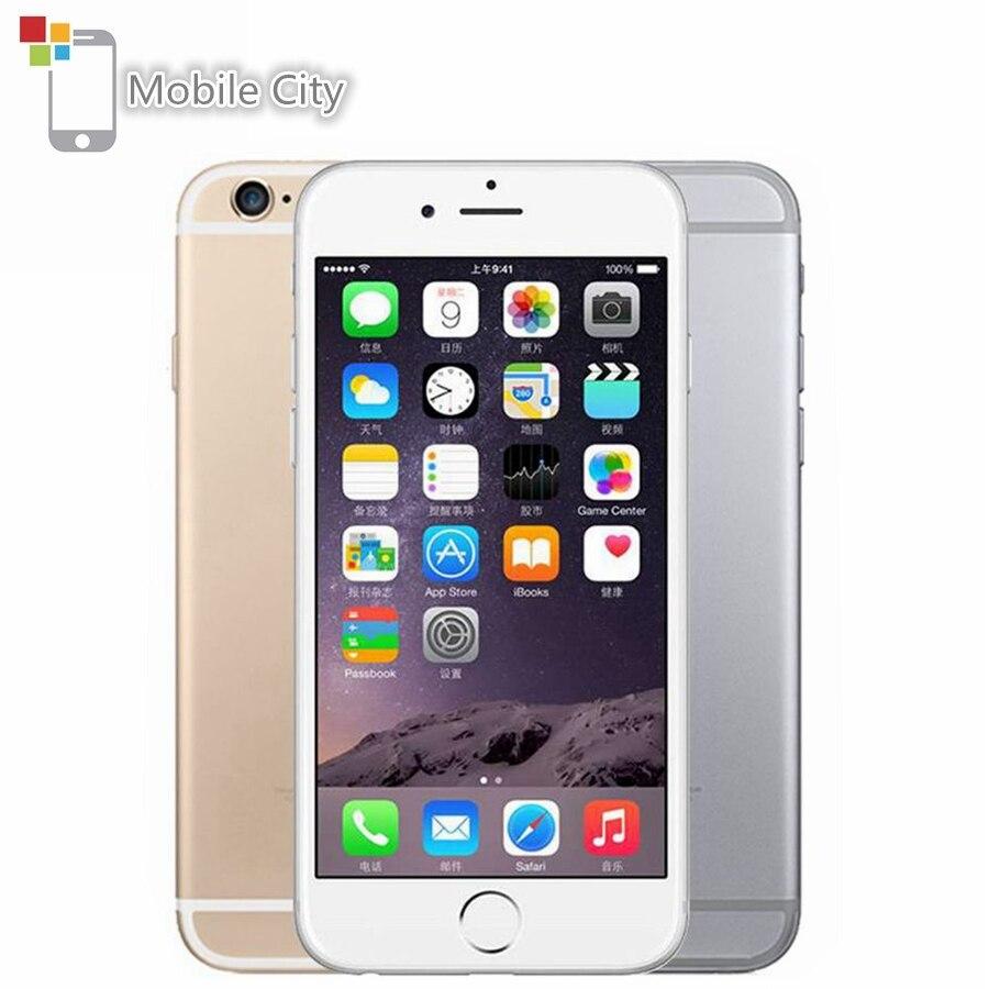 "Smartphone d'origine Apple iPhone 6 IOS double cœur 4.7 ""1 GB RAM 16/64/128GB ROM 8.0MP empreinte digitale 4G LTE téléphone portable débloqué"