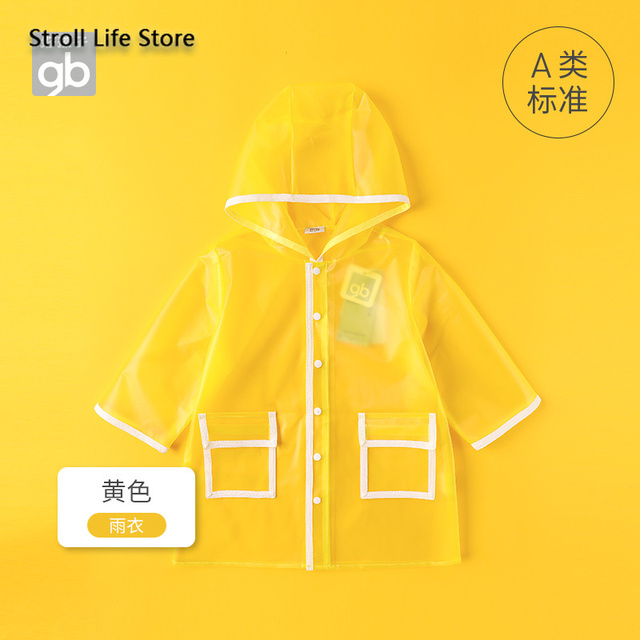 Kids Clear Raincoat Yellow Long Children Rain Coat Transparent Waterproof Poncho Rain Jacket Kids Capa De Chuva Birthday Gift 5