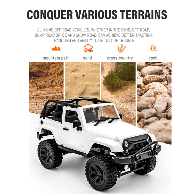 F2 RC Car 1/14 Scale Remote Control Truck Convertible 4WD 2.4GHz Off Road RC Trucks 30km/h High Speed Vehicle Crawler Toys Kid 2
