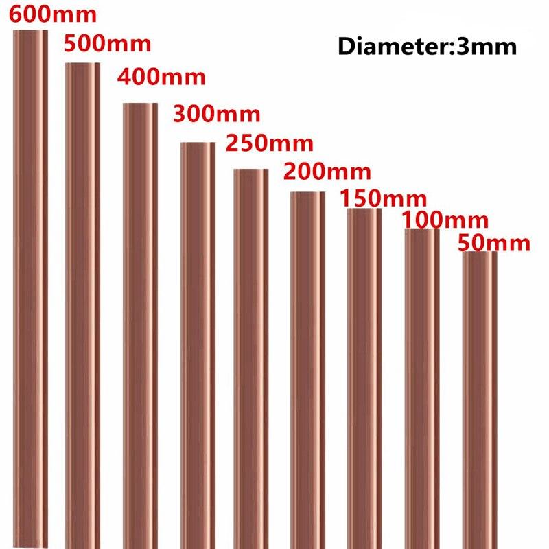 3 мм Диаметр медный круглый стержень фрезерование Сварка Металлообработка 50-500 мм длина