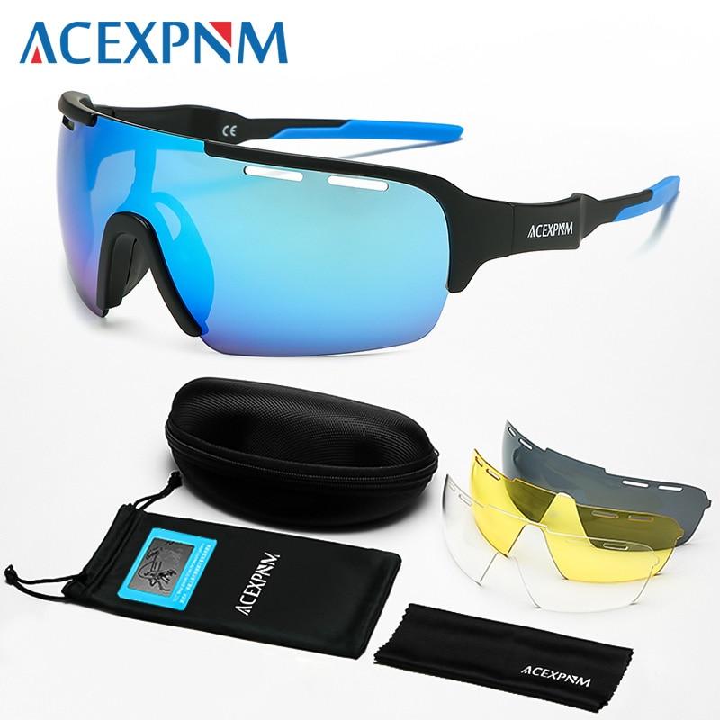 2019 Men Polarized Cycling Glasses Mountain Bike Cycling Goggles Outdoor Sports Cycling Eyewear UV400 Sports Sunglasses 4 Lens|Cycling Eyewear| |  - title=