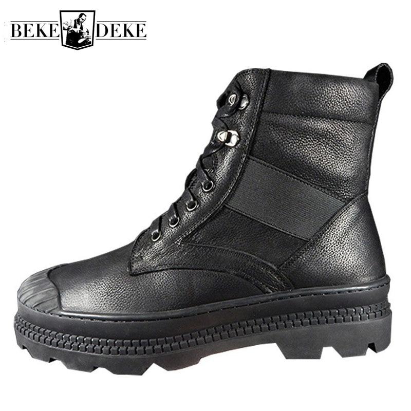 Winter Men Warm Wool Lining Snow Boots