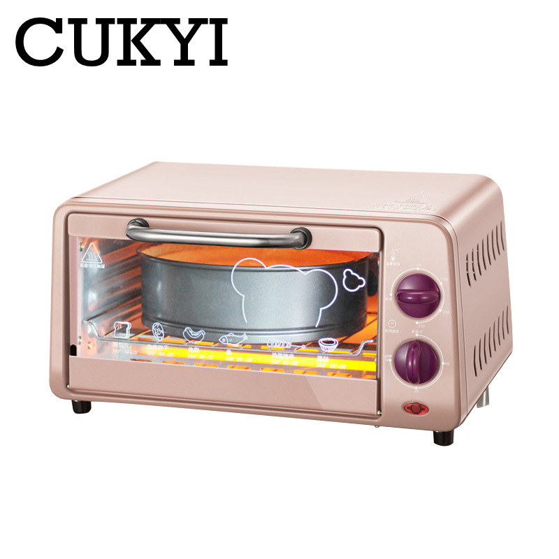 CUKYI 9L Electric Oven Home Mini Oven Timing Small Oven Baking Machine Fish Biscuit Cake 800w