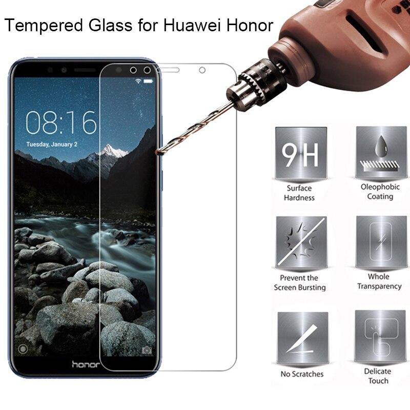 """Vidro temperado para honor 6c 5c 4c pro 3c duro vidro de proteção para huawei honor 6a 4a 3a 5a 5.5 """"5a europa 5.0"""" protetor de tela"""