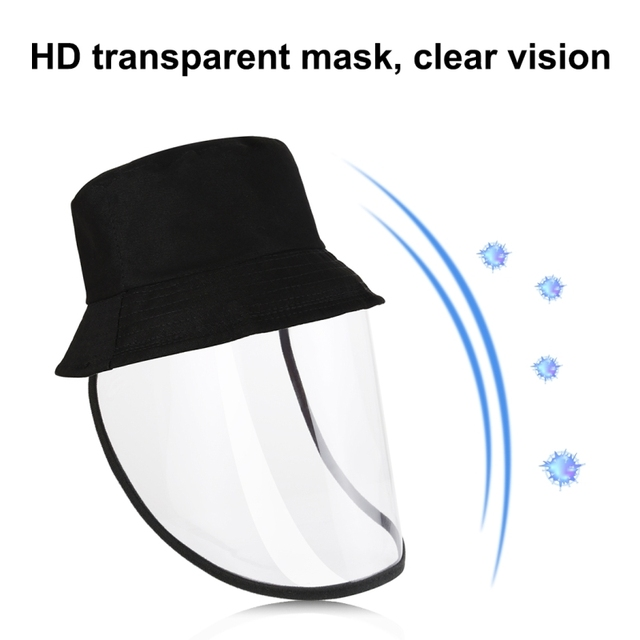 Children's anti-spray fisherman hat Anti-Saliva Goggle Anti-Spitting Anti-Fog Protective Cap Kids Fisherman Hat Face Shield 5