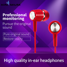 цена на Earphone Bass Stereo HIFI Music Earbuds With Microphone In-ear Wired Headset For Xiaomi Android IOS Mobile Phones Audifonos
