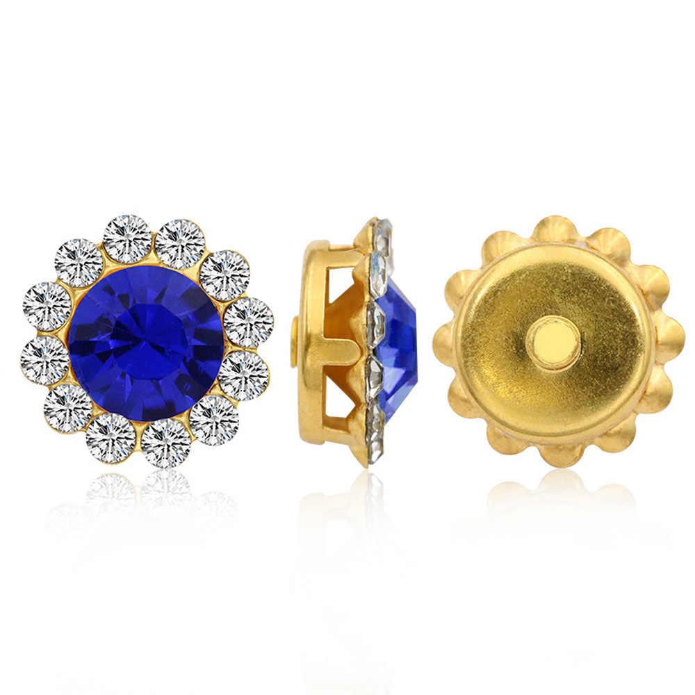 Pazur puchar dżetów Strass 10mm mix kolor błyszczące kryształy szklane kamienie wykończenia złota baza Non Hot Fix szyć na dżetów na ubrania