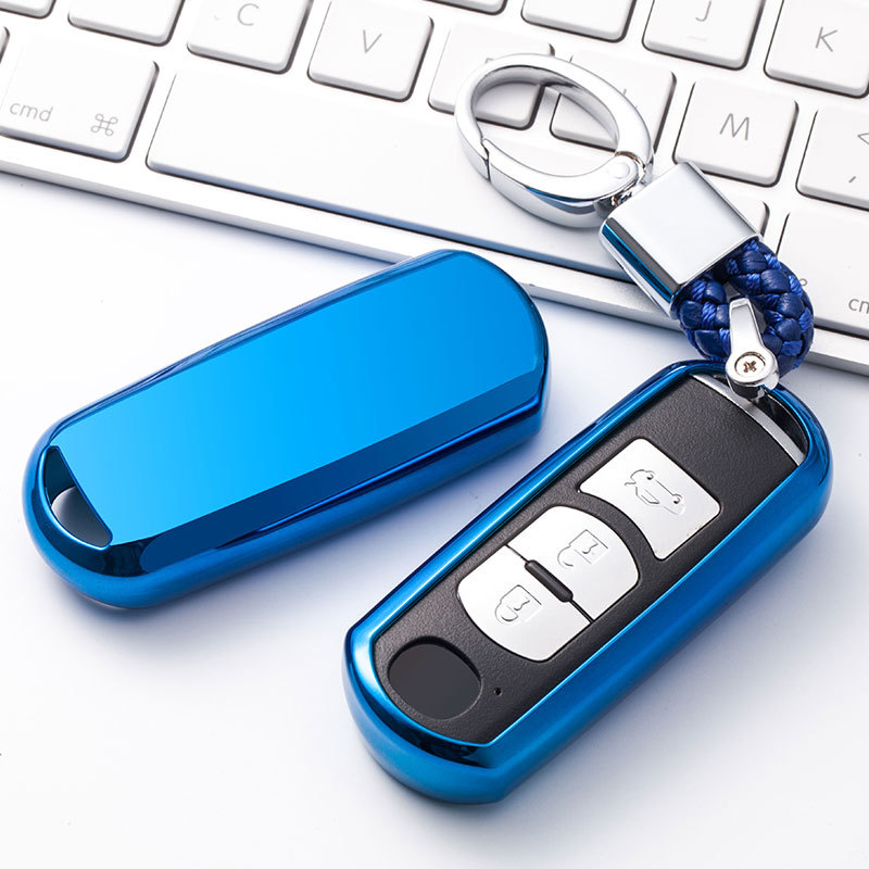 Soft TPU Car key fob cover case protect for Mazda 2 mazda 3 mazda 5 mazda 6 CX-3 CX-4 CX-5 CX-7 CX-9 Atenza Axela MX5 Car stylin image